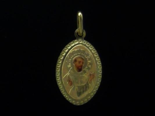 Medal in sterling silver 925 with Saint Francis