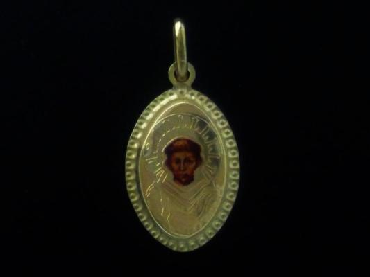 Oval medal with Saint Francis