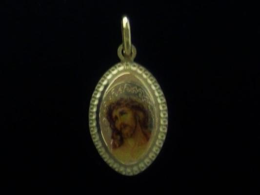 Oval medal with Jesus