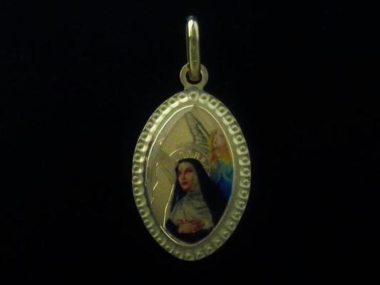Oval medal with Saint Rita